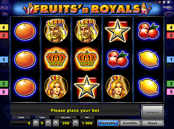 Играть в Fruits and Royals с бонусами Вулкан