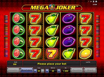 Играть на деньги в Mega Joker