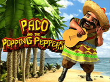 Виртуальный игровой слот Paco And Popping Peppers